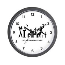 I Do My Own Speeches - Wall Clock