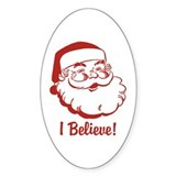 I Believe Santa Claus Oval Decal