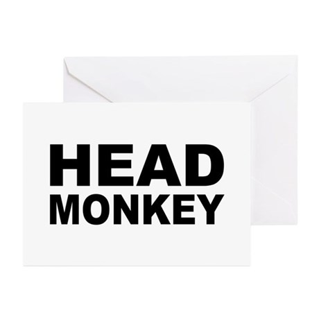 Head Monkey - Greeting Cards (Pk of 10)
