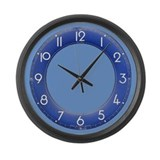 Shades of Blue Large Wall Clock