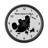 Funny Flip off Large Wall Clock