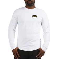 Airborne Tab Black and Gold Long Sleeve T-Shirt