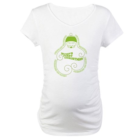 Green Bump's 1st Santa Maternity T-Shirt