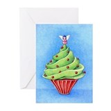 Christmas Tree Cupcake Greeting Cards (Pk of 20)