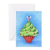 Christmas Tree Cupcake Greeting Card