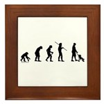 Dad Evolution Framed Tile