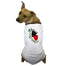 Red & Black Drama Mask Dog T-Shirt