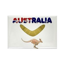 Australia Boomerang Rectangle Magnet