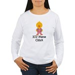 ICU Nurse Chick Women's Long Sleeve T-Shirt