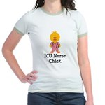 ICU Nurse Chick Jr. Ringer T-Shirt