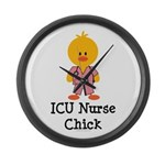ICU Nurse Chick Large Wall Clock