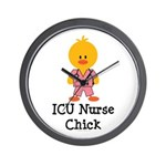 ICU Nurse Chick Wall Clock
