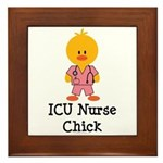 ICU Nurse Chick Framed Tile