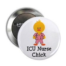 "ICU Nurse Chick 2.25"" Button (10 pack)"