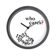 &Quot;Who Cares?&Quot; Wall Clock