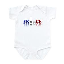 France Tricolore and Eiffel T Infant Bodysuit