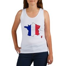 French Flag Map Women's Tank Top