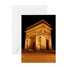Arc de Triomphe Illuminated Greeting Card