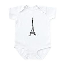 Eiffel Tower Outline Infant Bodysuit
