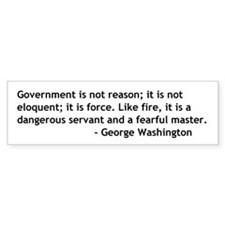 Government Is Not Reason Bumpersticker