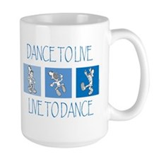 Curtis Dancing Blue Large Mug