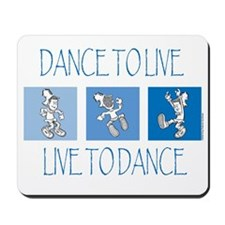 Curtis Dancing Blue Mousepad