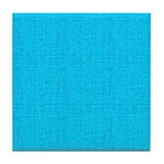 Cyan Linen Look Tile Coaster