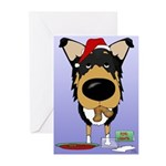 Smooth Collie Santa Greeting Cards (Pk of 10)