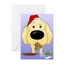 Yellow Lab Santa Greeting Cards (Pk of 10)