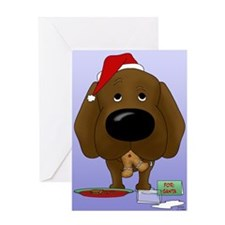 Chocolate Lab Santa Greeting Card