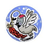 Christmas Quail Ornament (Round)