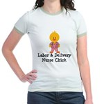 Labor and Delivery Chick Jr. Ringer T-Shirt