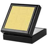 Yellow Linen Look Keepsake Box