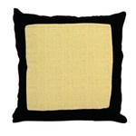 Yellow Linen Look Throw Pillow
