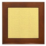 Yellow Linen Look Framed Tile