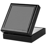 Dark Gray Linen Look Keepsake Box