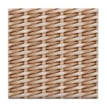 Brown Wicker Look Tile Coaster