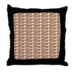 Brown Wicker Look Throw Pillow