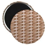 Brown Wicker Look Magnet