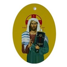 Mashiach Yeshua Oval Ornament