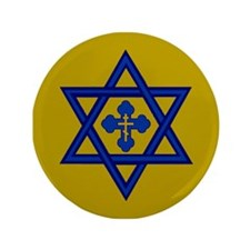 "Star of David/Orthodox Cross 3.5"" Button"