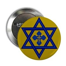"Star of David/Orthodox Cross2.25"" Button (10"
