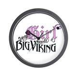 Every Girl Needs a Big Viking Wall Clock