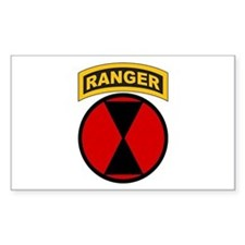 7th Infantry Div with Ranger Rectangle Decal