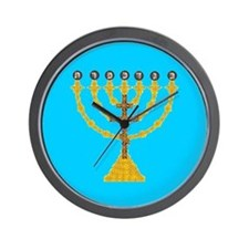 Atonement Menorah Wall Clock