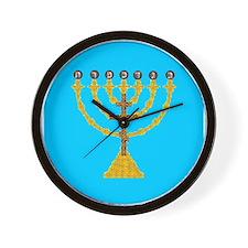 Atonement Menorah Wall Clock