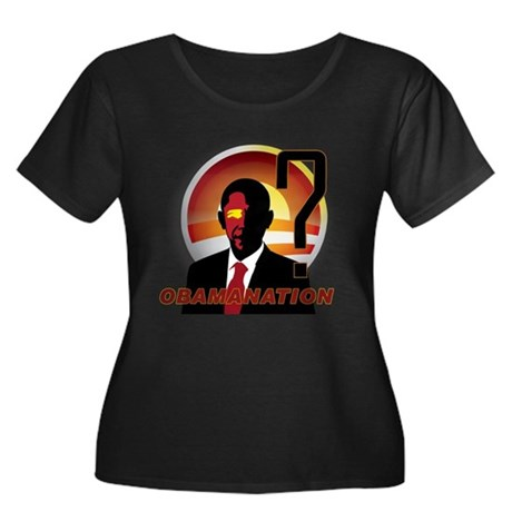 ObamaNation Women's Plus Size Scoop Neck Dark T-Sh
