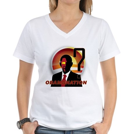 ObamaNation Women's V-Neck T-Shirt