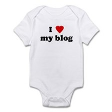I Love my blog Infant Bodysuit