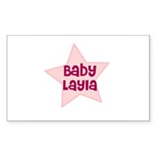 Baby Layla Rectangle Decal